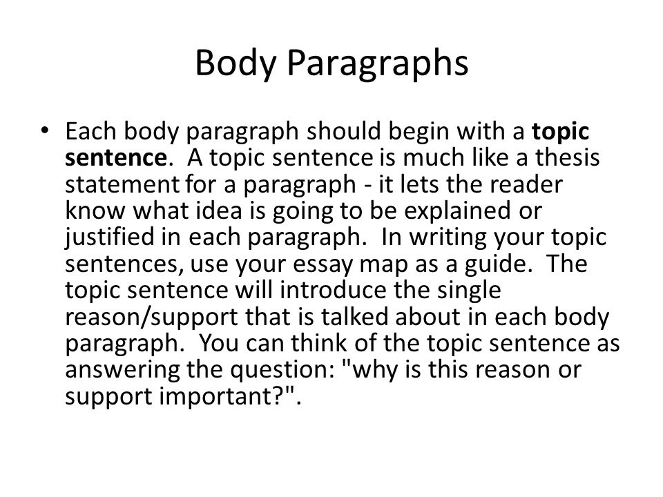 each body paragraph in an essay begins with a The introductory paragraph the paragraph that begins an essay causes students the most trouble, yet carries the most importance although its precise construction varies from genre to genre (and from essay to essay), good introductory paragraphs generally accomplish the same tasks and follow a few basic patterns.