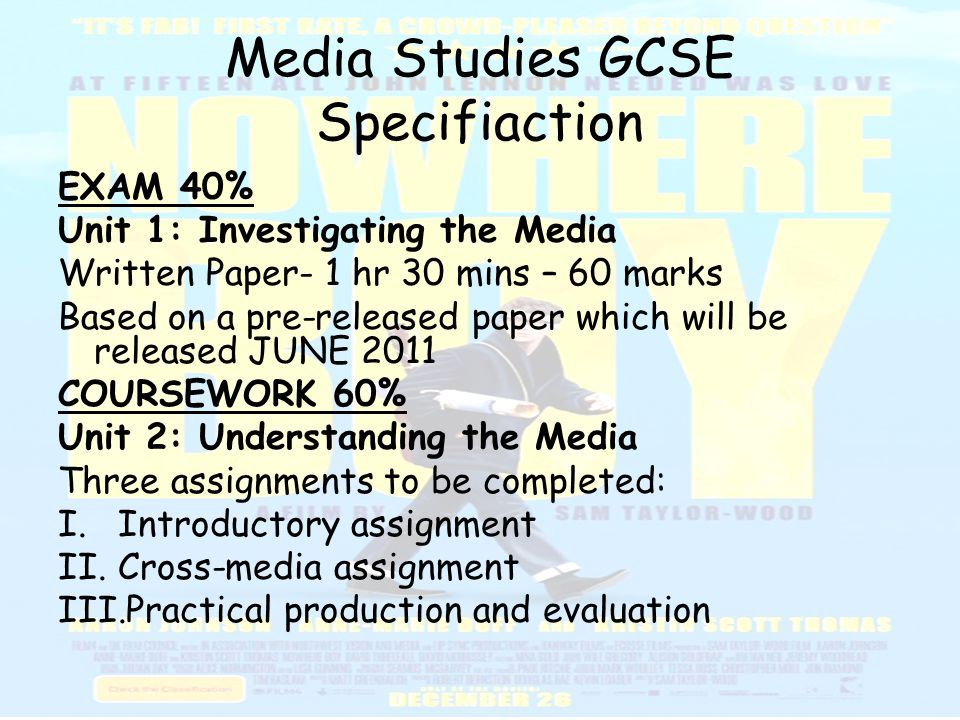 practical production media studies gcse