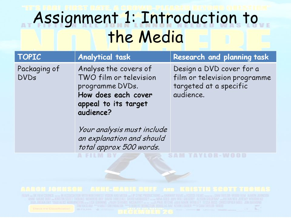 media analysis assignment The goal of this assignment is to do a close one purpose of this assignment is to become a more aware media to-writing-academic-prose/media-analysis.