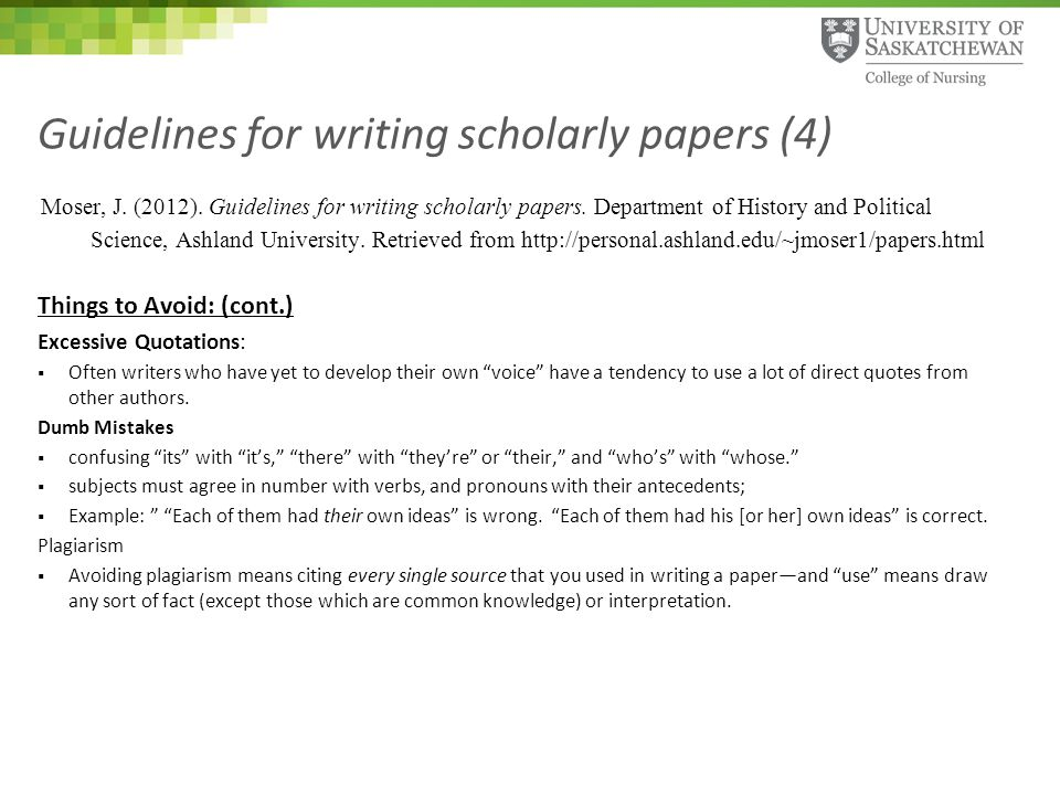 writing a scholarly paper As an academic, few experiences are more gratifying than learning that a  student's thesis, note, or paper has been accepted for publication (if the student  also.