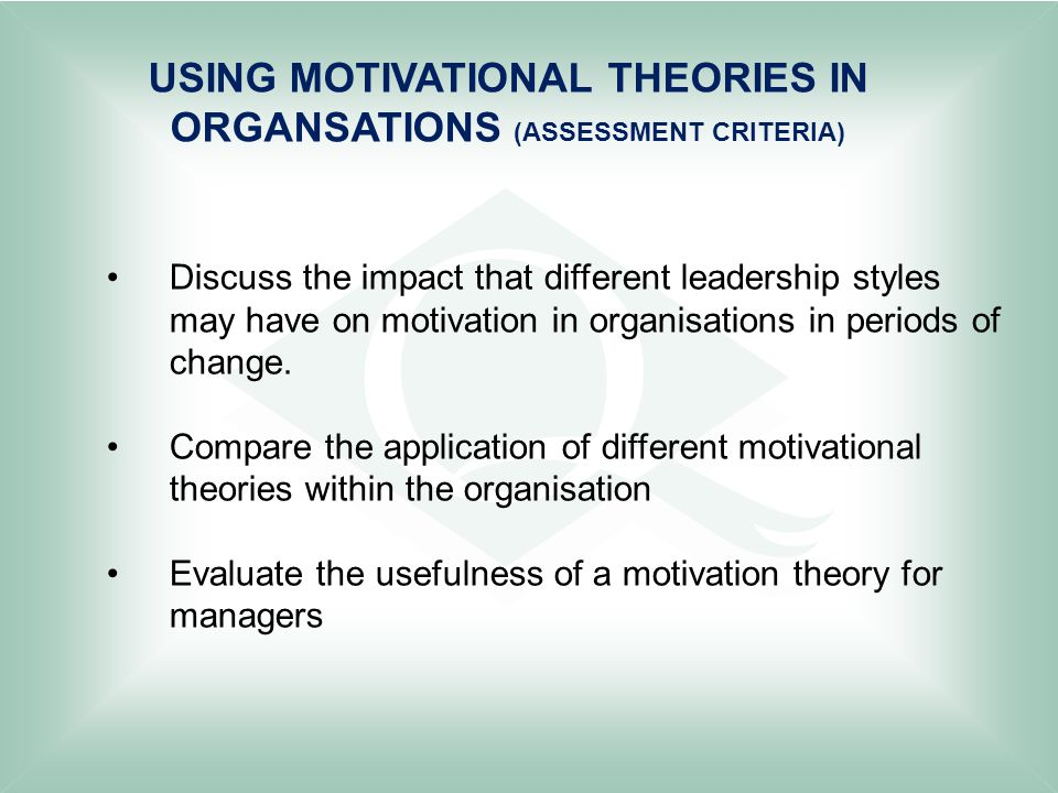discuss the impact that different leadership styles may have on motivation in organisations in perio New lessons from old projects: the workings of rural development in northeast brazil judithtendler operations evaluation department new lessonsfrom old projects the.