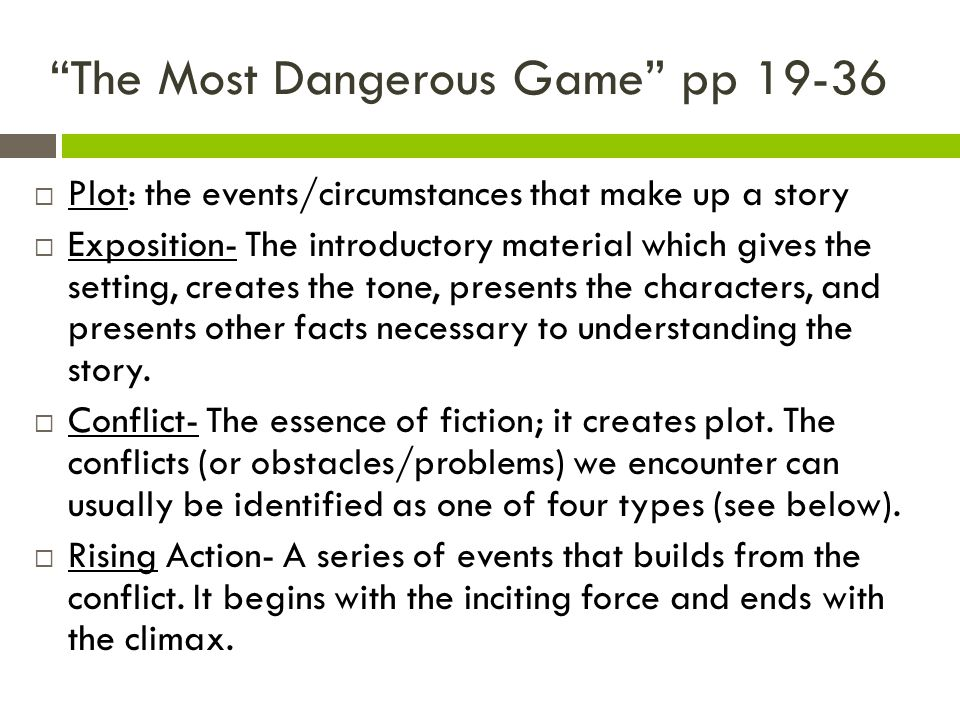 the most dangerous game characters The most dangerous game teacher's guide contains activities and lesson plans with a most dangerous game summary and brief analysis  character/conflict .