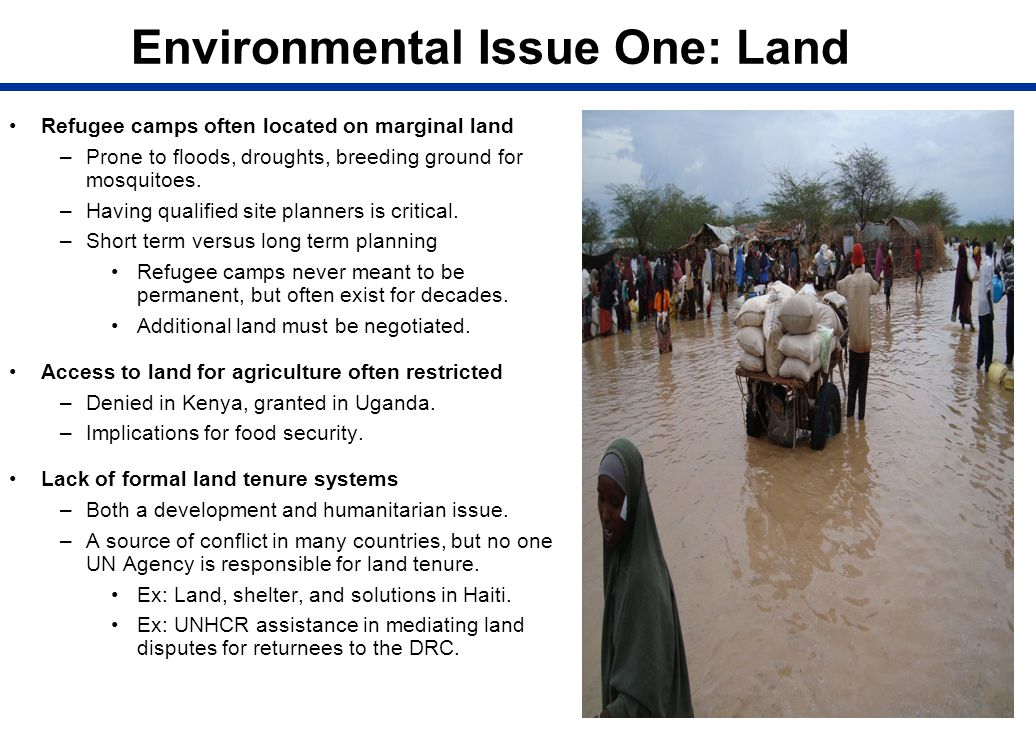 Environmental Issue One: Land