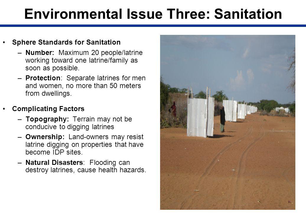 Environmental Issue Three: Sanitation