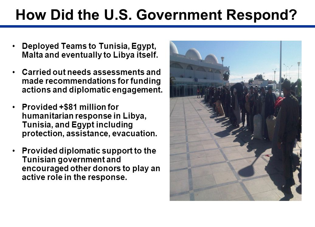 How Did the U.S. Government Respond