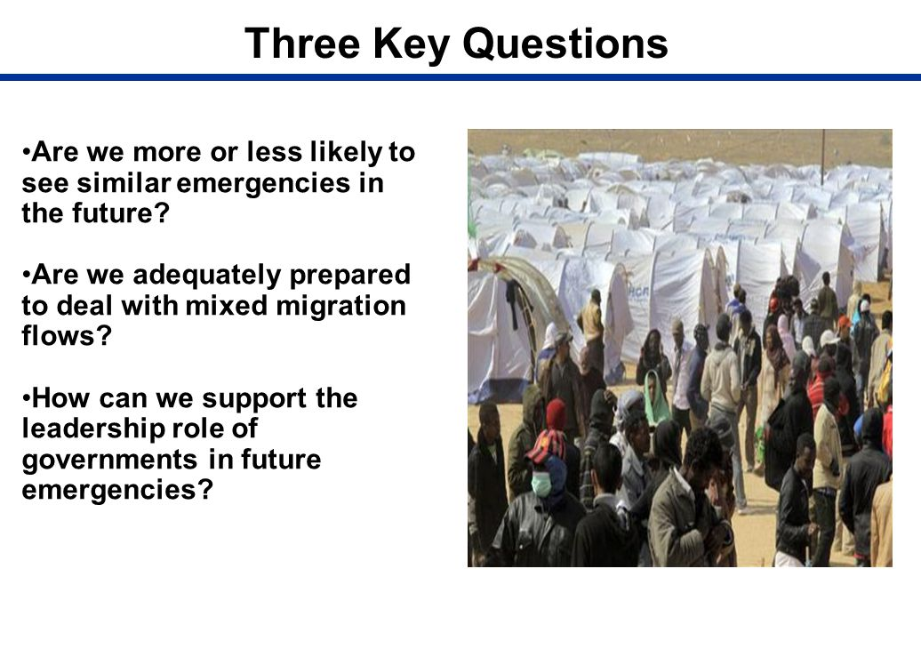 Three Key Questions Are we more or less likely to see similar emergencies in the future