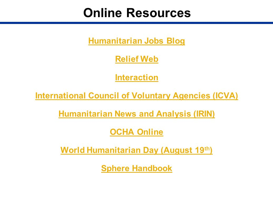 Online Resources Humanitarian Jobs Blog Relief Web Interaction