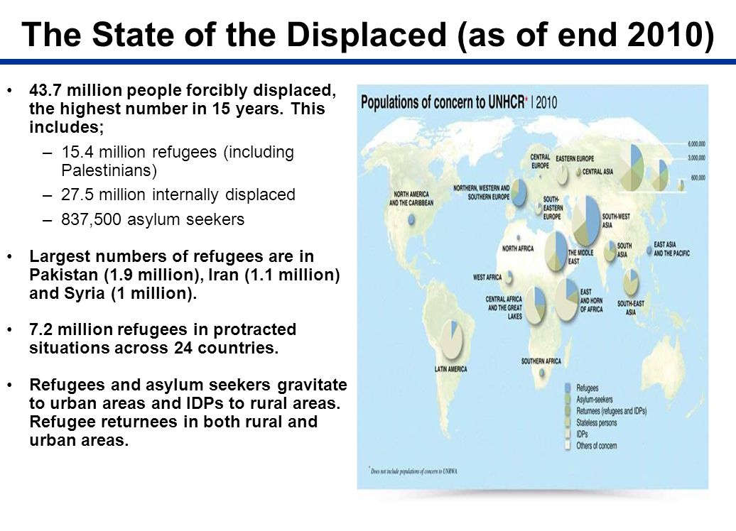 The State of the Displaced (as of end 2010)