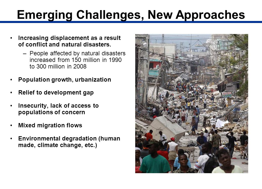 Emerging Challenges, New Approaches