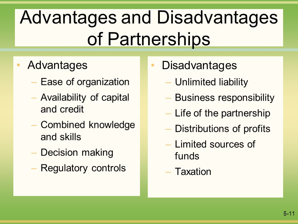 demerits of a partnership firm Advantages and disadvantages of a partnership a partnership has advantages over other forms of business from a partnership firm of which he is a member.