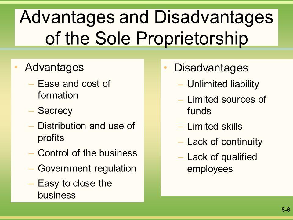 10 Advantages and Disadvantages of Sole Proprietorship