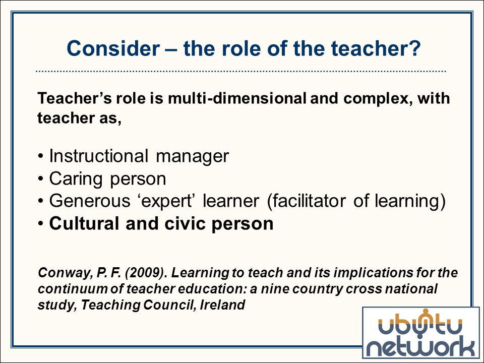 role of the teacher in facilitating growth and development in a child The role of teacher evaluation comprehensive teacher growth and development teacher assessment and evaluation a teacher-of-record.