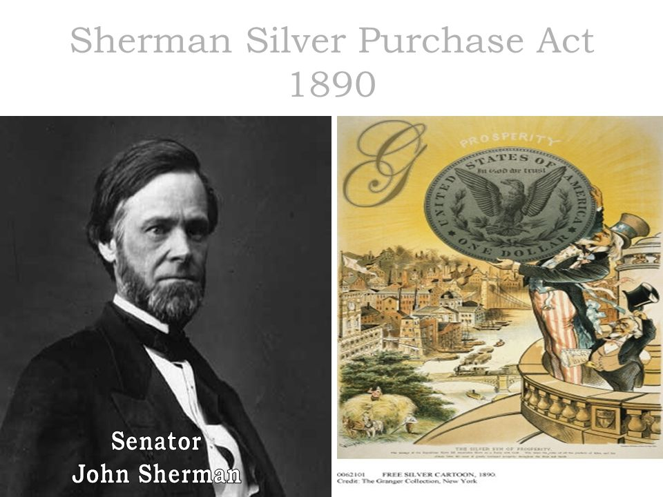 Sherman Silver Purchase Act 1890