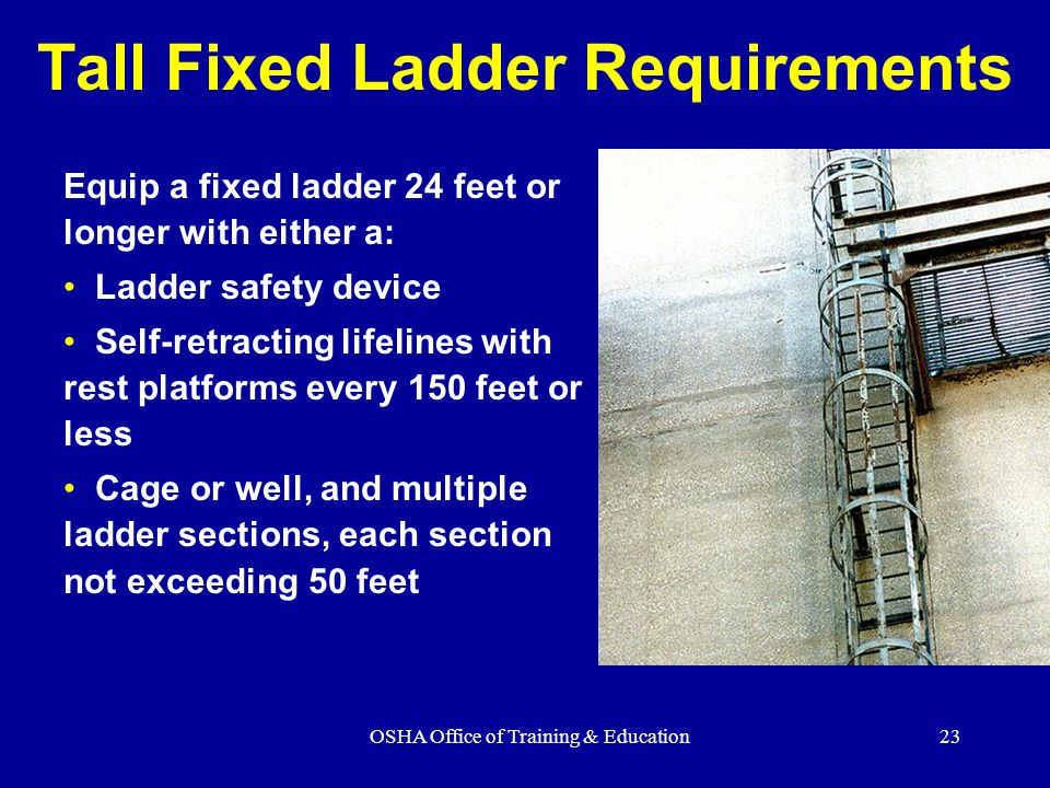 Tall Fixed Ladder Requirements
