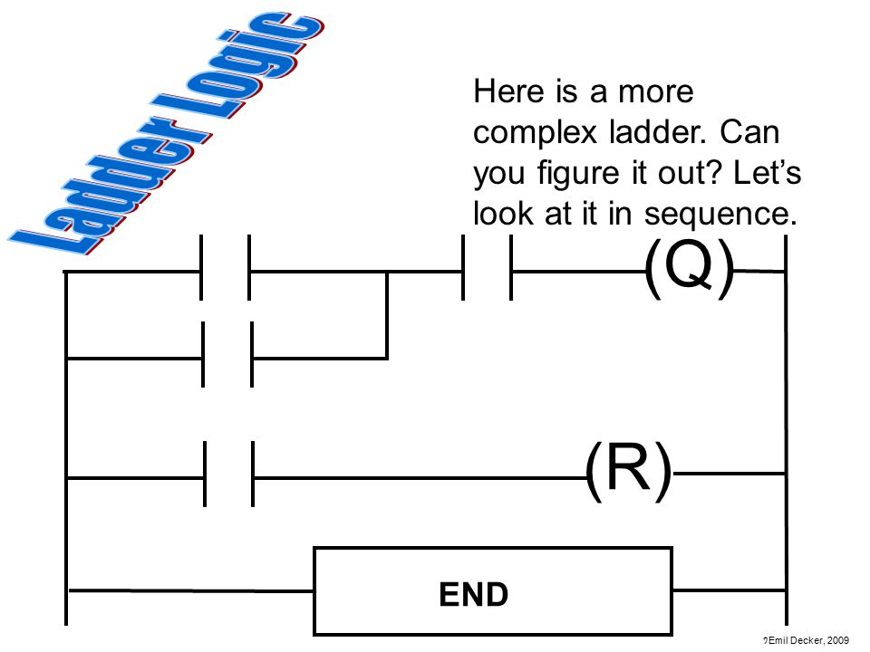 Here is a more complex ladder. Can you figure it out