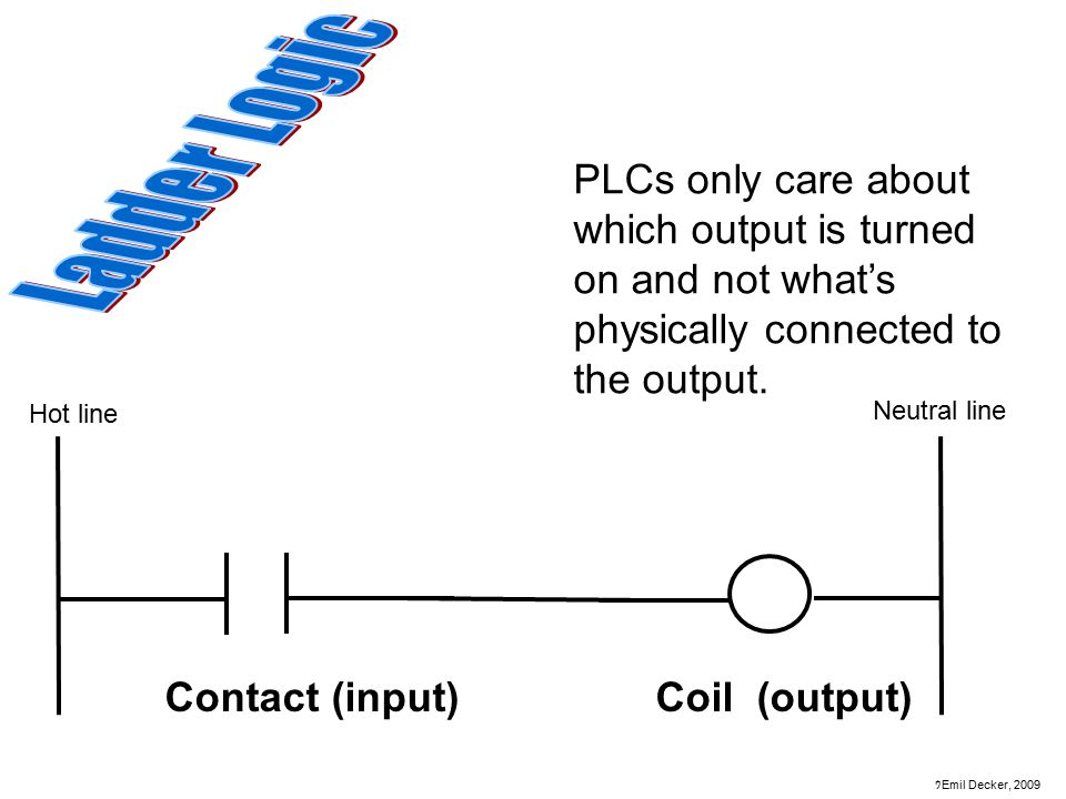Ladder Logic PLCs only care about which output is turned on and not what's physically connected to the output.