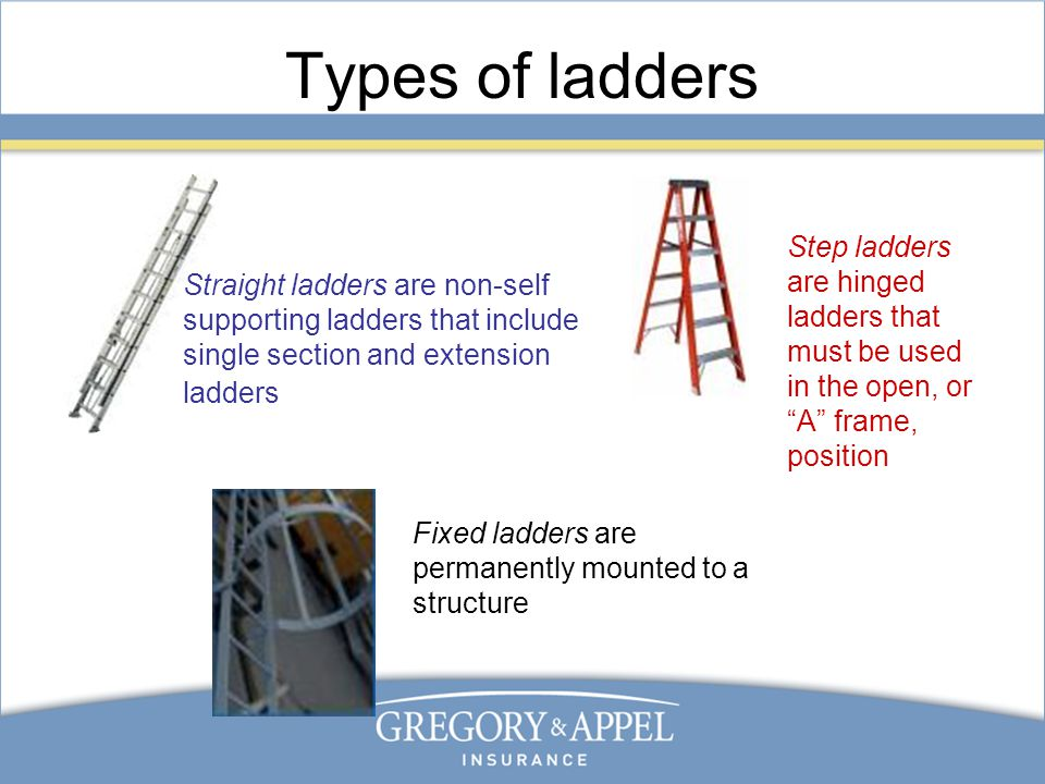 Types Of Ladder Safety