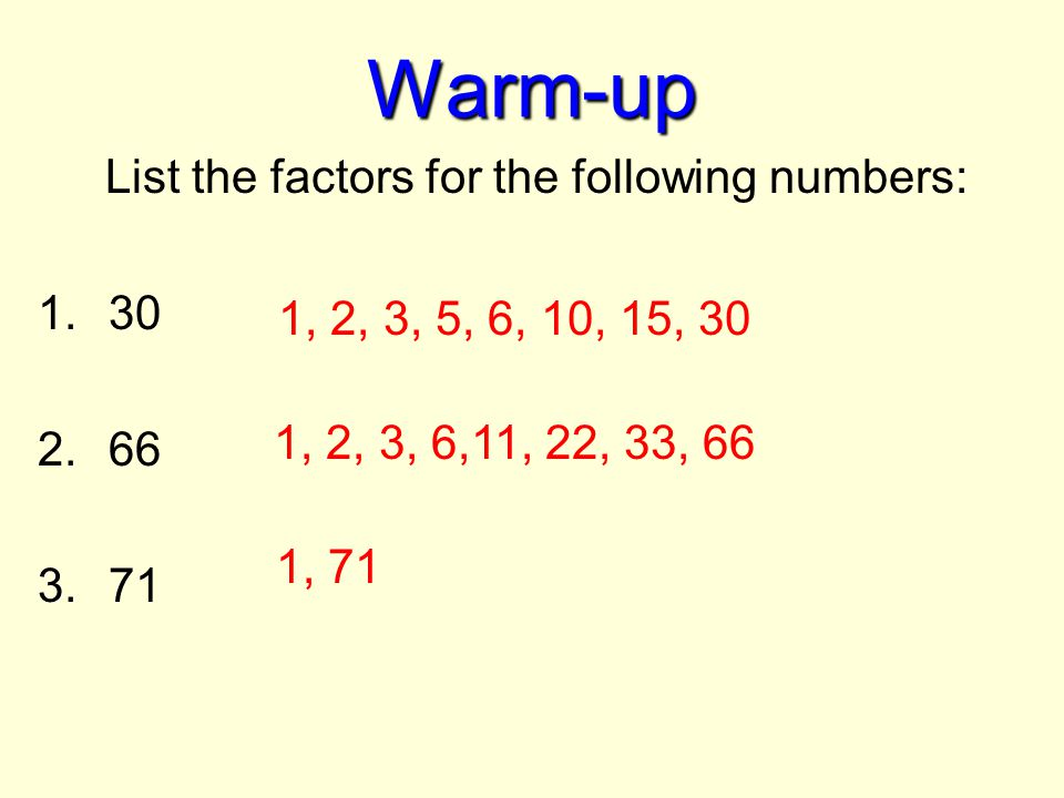 how to find the factors of 90