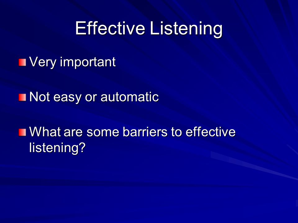barriers to effective listening pdf