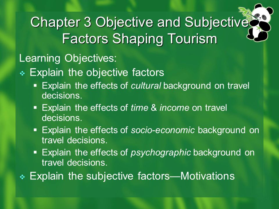 Effects of culture on travel