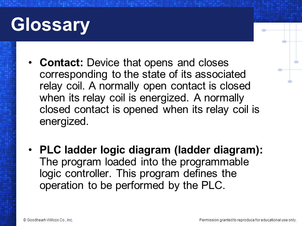 Creating relay logic diagrams ppt download 15 glossary ccuart Image collections