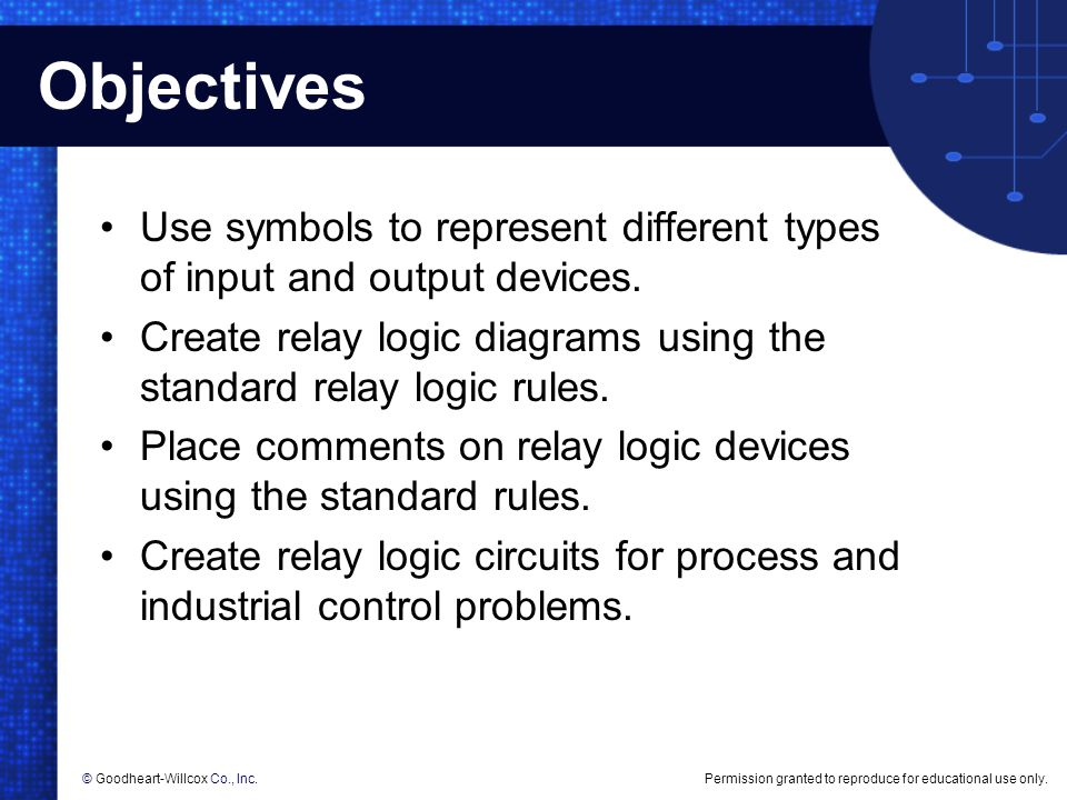 Creating relay logic diagrams ppt download objectives use symbols to represent different types of input and output devices create relay logic ccuart Gallery