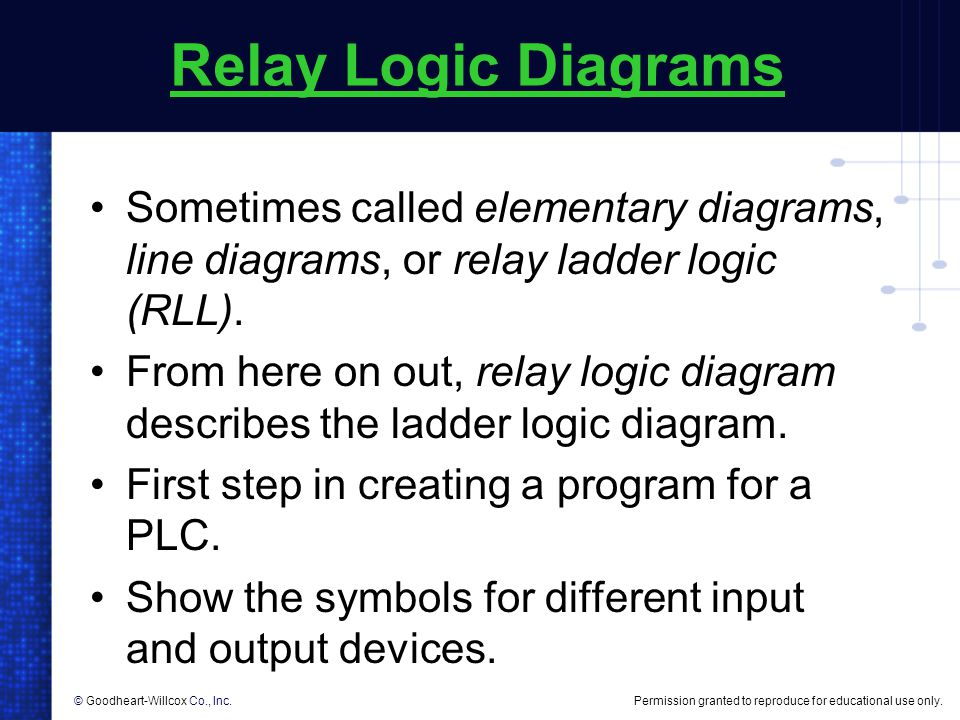 creating relay logic diagrams