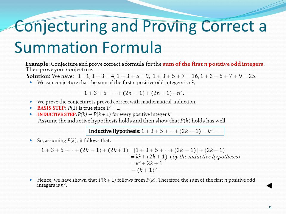 Conjecturing and Proving Correct a Summation Formula