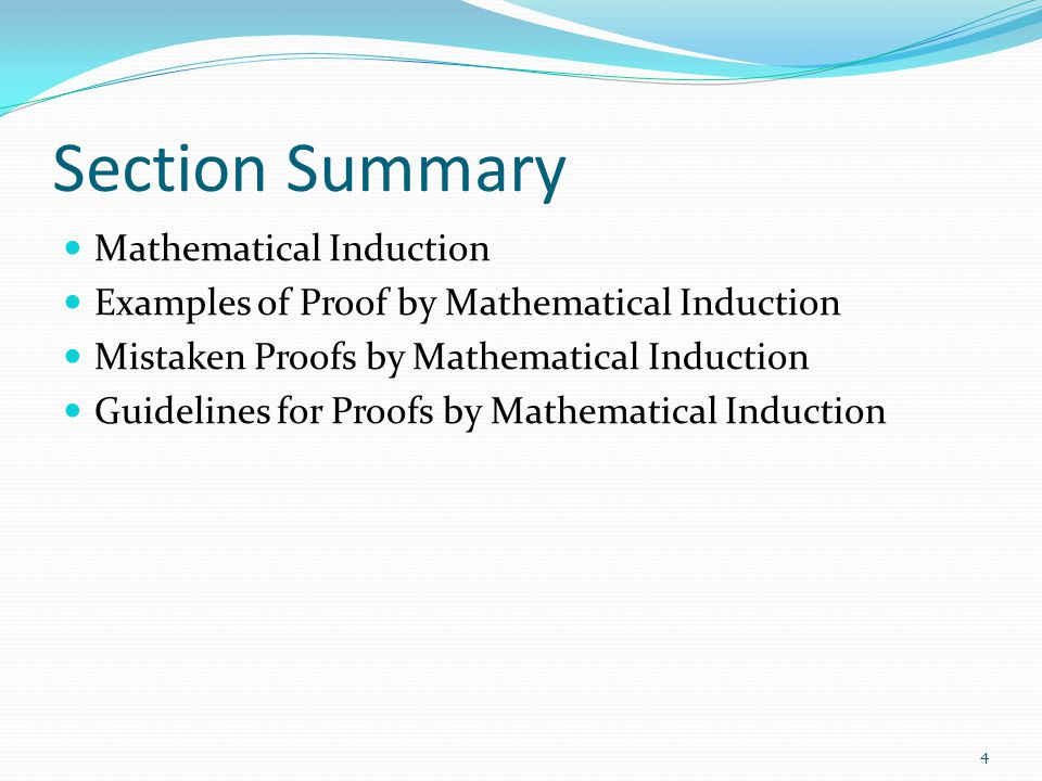 Section Summary Mathematical Induction