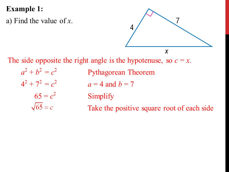 The Pythagorean Theorem And Its Converse - Ppt Download