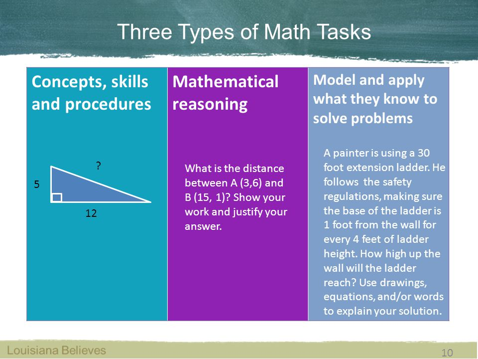 types of mathematical skills pdf