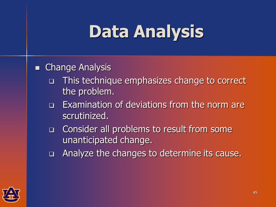 data analysis problems