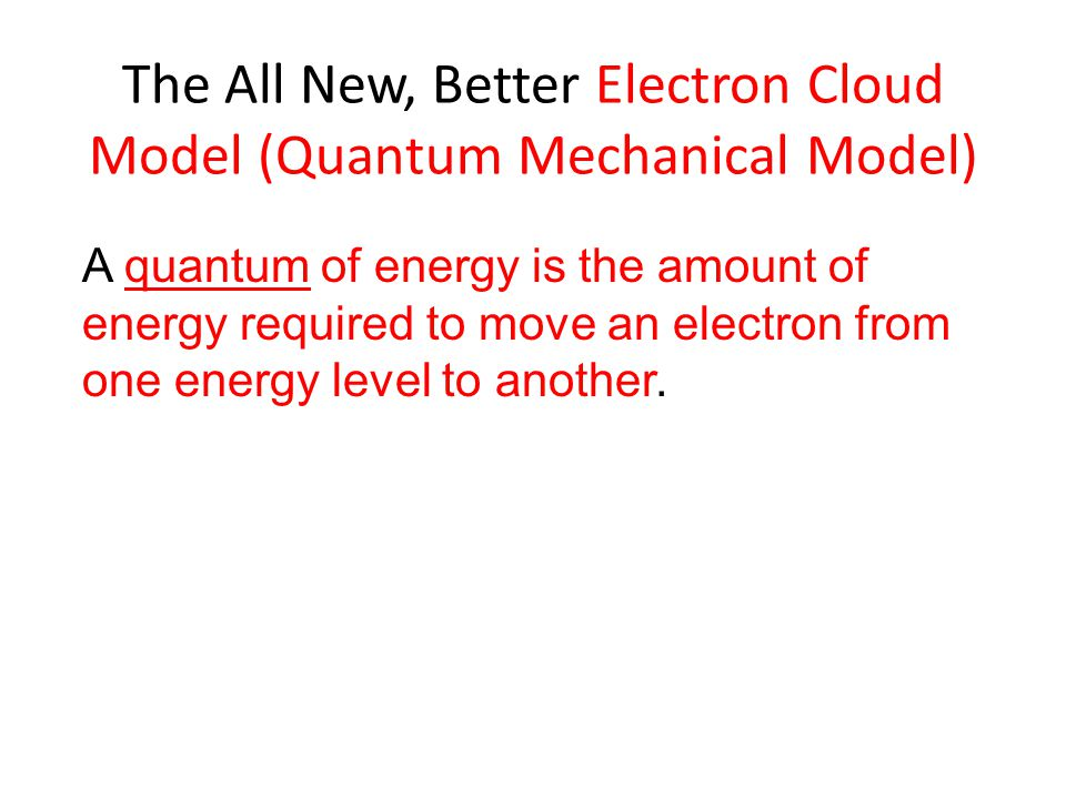 The All New, Better Electron Cloud Model (Quantum Mechanical Model)