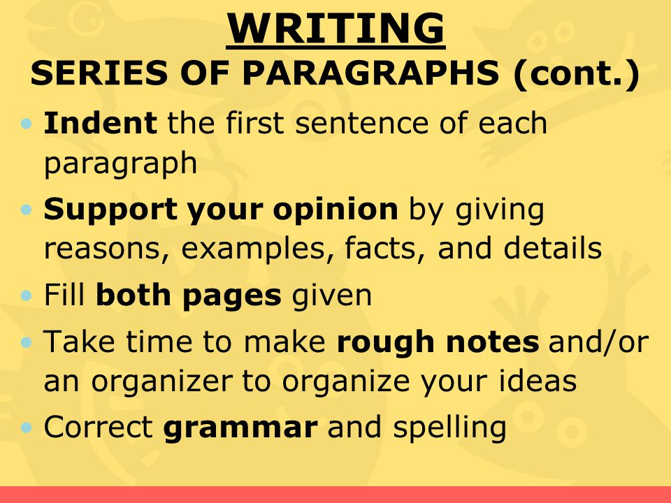 the use of facts opinions and detailed information in writing paragraphs Distinguishes between fact and opinion in conversation or lecture extracts elemental meaning from speech patterns: most common suffixes (eg -ed, -ing)  reading little comprehension of detailed information from printed sources, such as forms, telephone directories, etc  writing rubric: paragraphs.