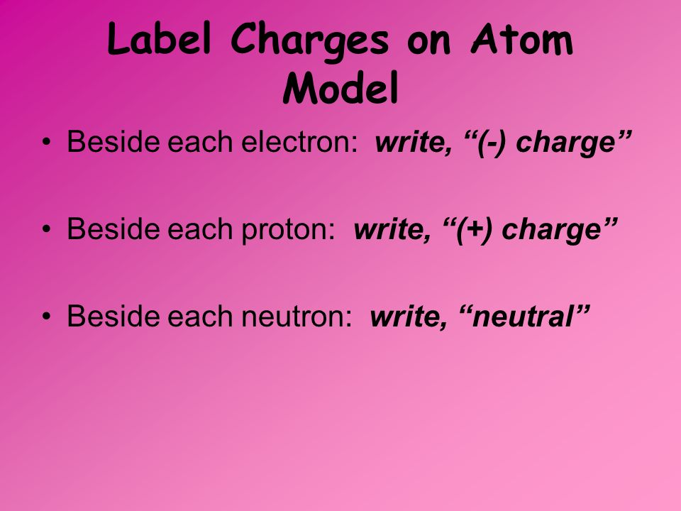 Label Charges on Atom Model