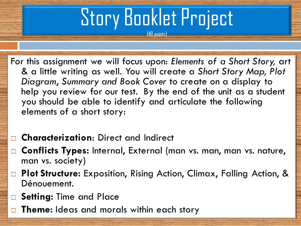 Story booklet project 40 points ppt download story booklet project 40 points ccuart Choice Image
