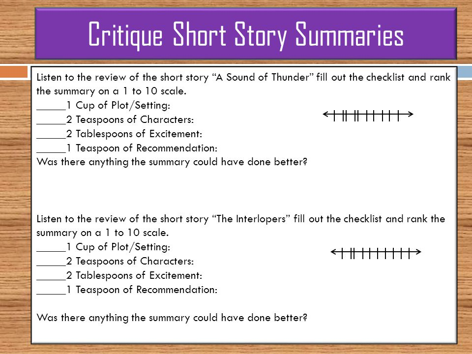 A plot overview of the short story the doll