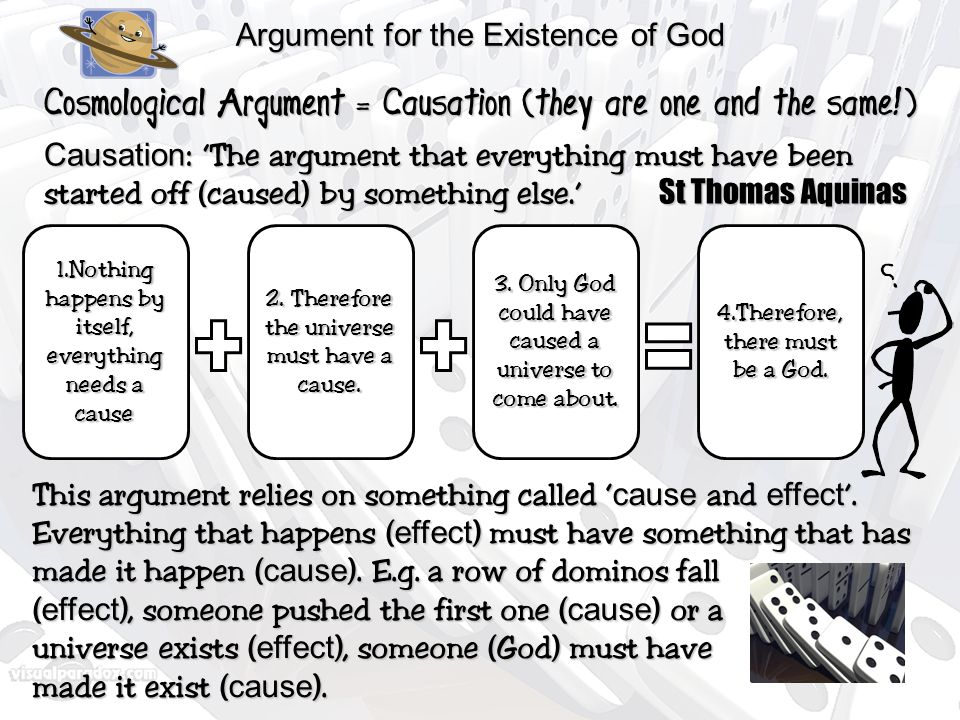 aquinas arguments Aquinas once wrote nothing in the the point of the counter arguments to the cosmological argument is that the idea of an eternal and necessary agency.