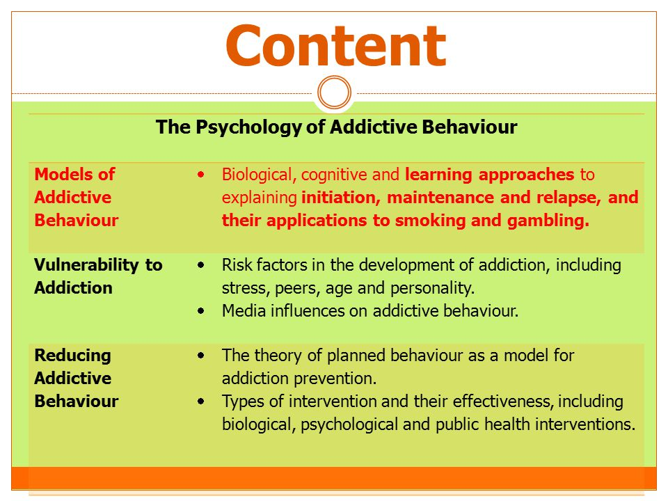 etiology of addiction comparison theory If you had asked me what causes drug addiction at the start  so if the old theory of addiction is right the likely cause of addiction has been.