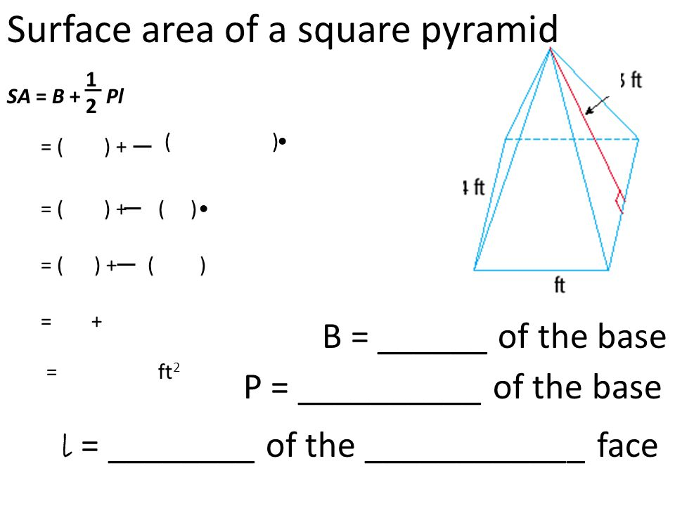 Surface area of triangular prisms and pyramids - ppt video ...