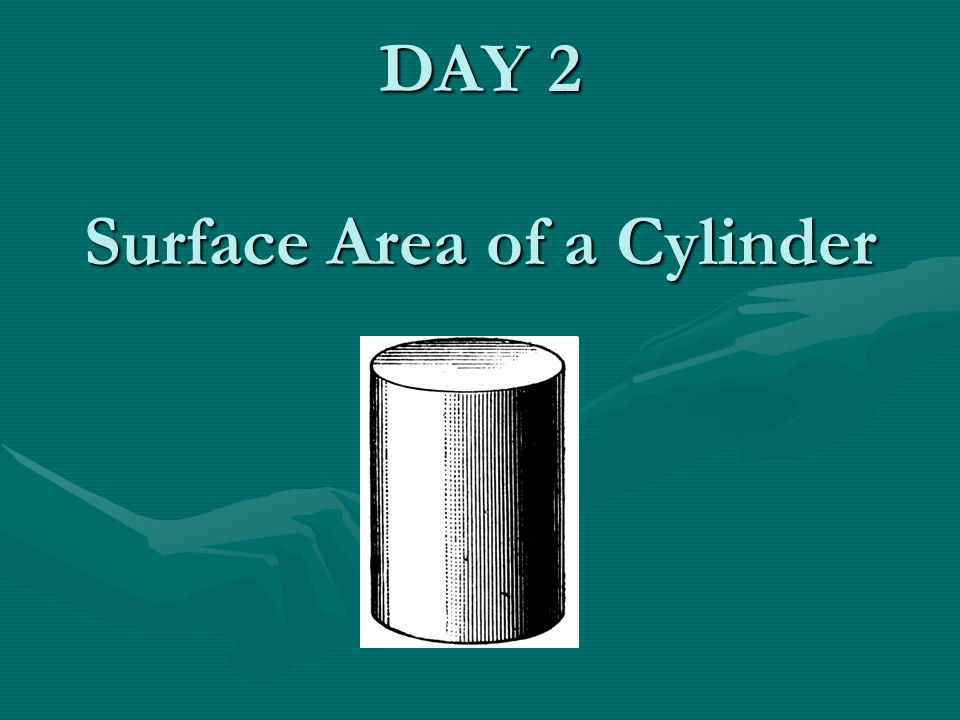 DAY 2 Surface Area of a Cylinder