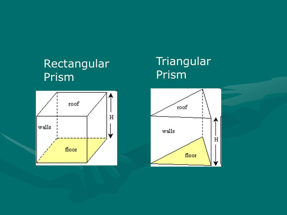 Triangular Prism Rectangular Prism