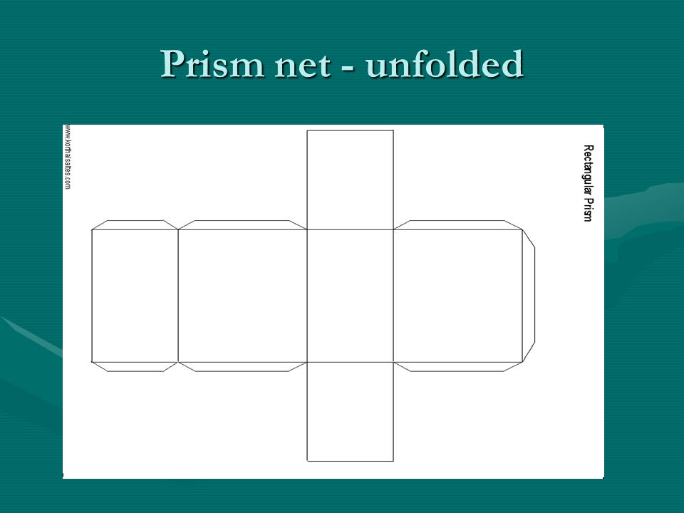 Prism net - unfolded