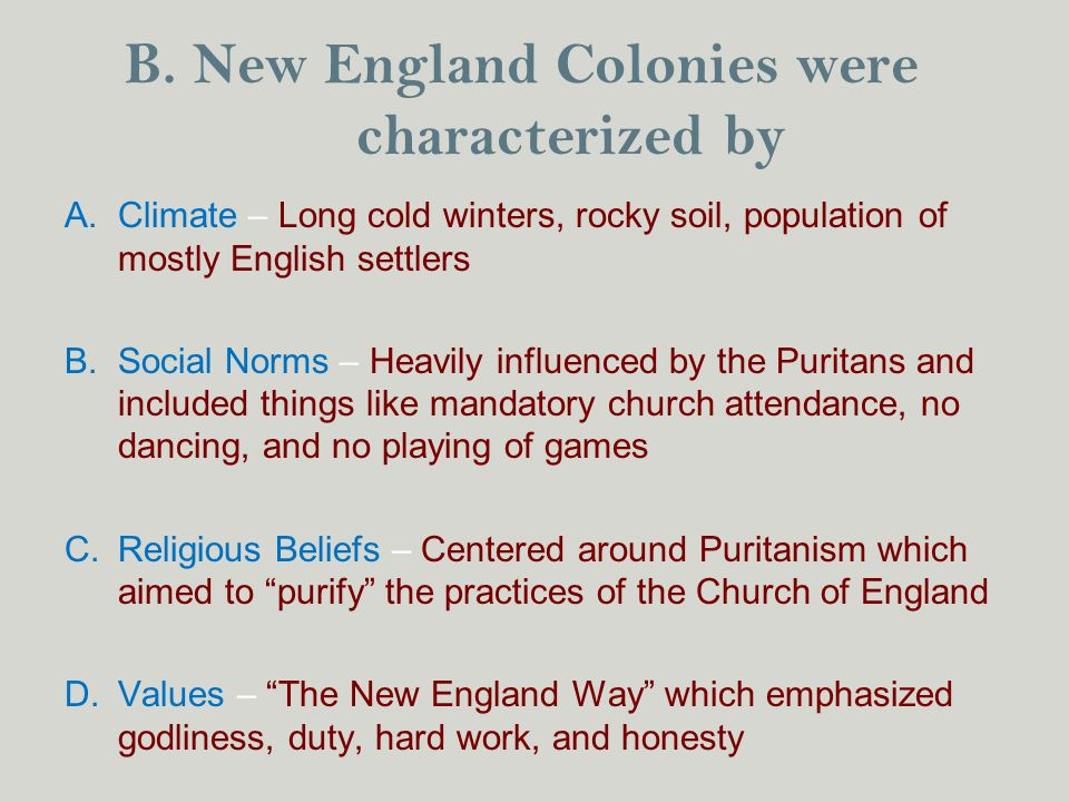 the impact of puritan ideals and values on the development of new england colonies How did the puritans' distinctive religious outlook affect the development of all the new england colonies  the puritan colonies in new england  values (town.