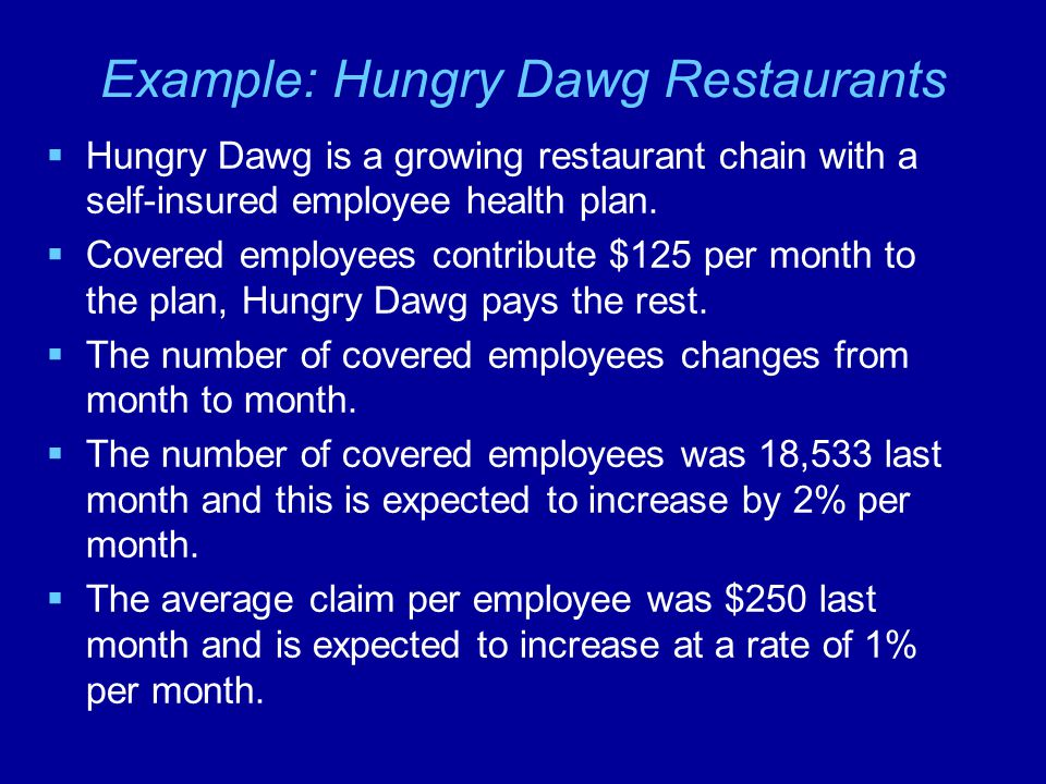 Example: Hungry Dawg Restaurants
