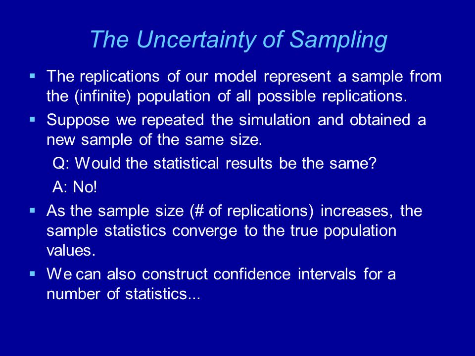 The Uncertainty of Sampling