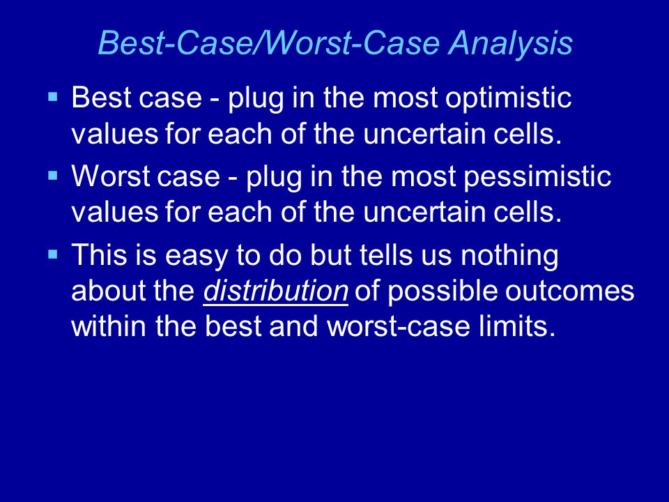 Best-Case/Worst-Case Analysis