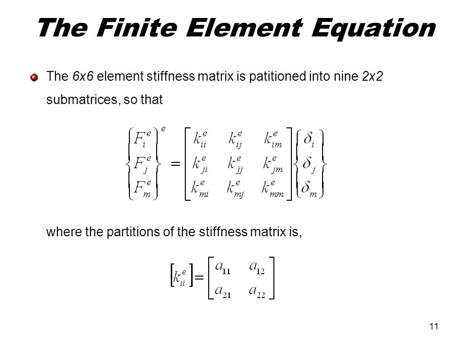 The Finite Element Equation