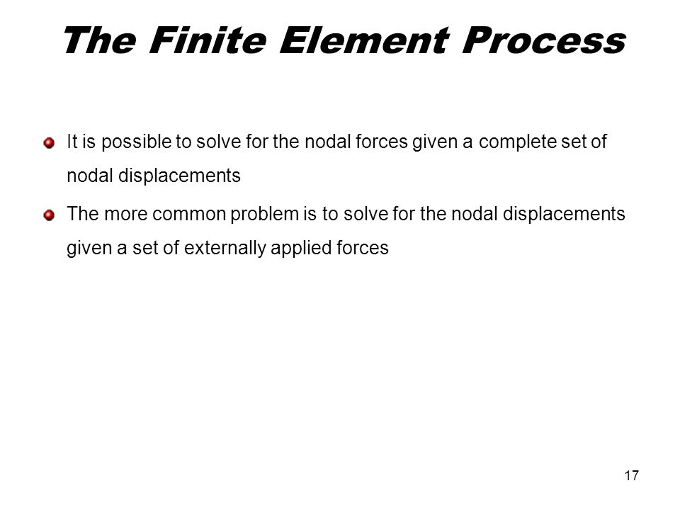 The Finite Element Process