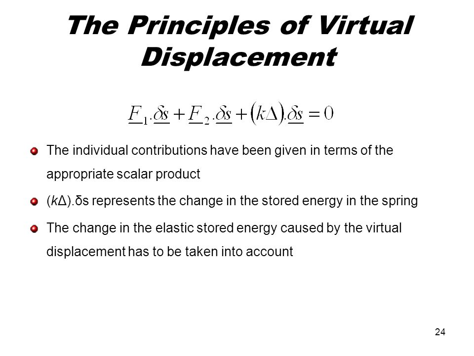 The Principles of Virtual Displacement